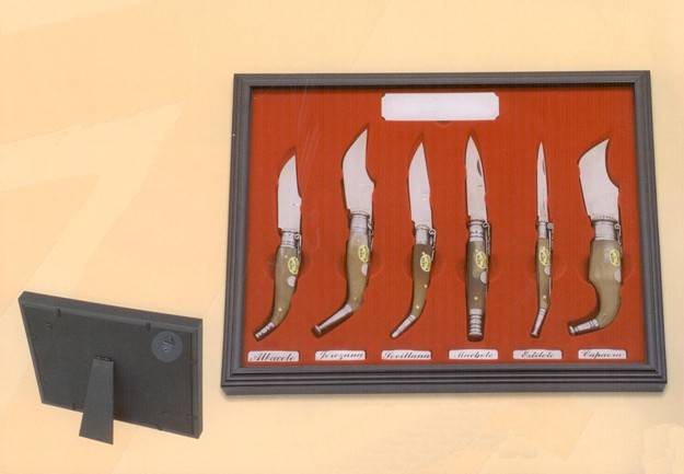 Martinez albainox Display with glass with penknives.