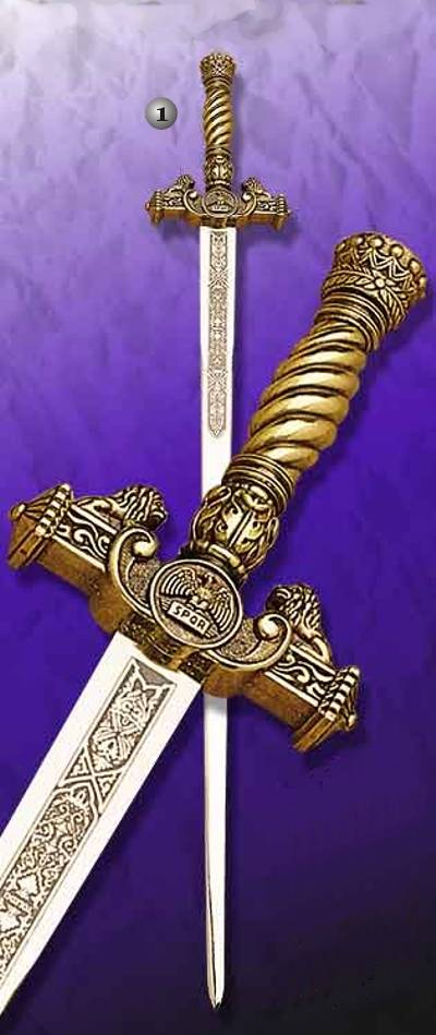 TIZONA DEL CID SWORD AND SWORD OF QUEEN