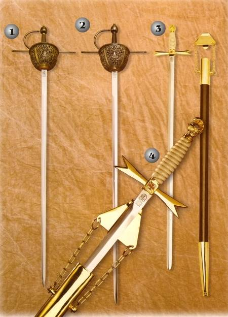 BAROQUE RAPIER AND MASONICS SABRES