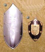 SHIELD MINIATURE OF SPAIN AND FRENCH PAINTED SHIELD