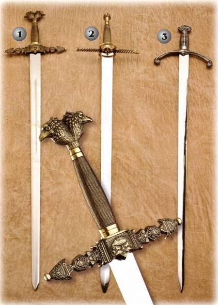 MERLIN SWORD, WARRIOR GARCIA DE PAREDES SWORD AND CASTILLA BISHOP SWORD