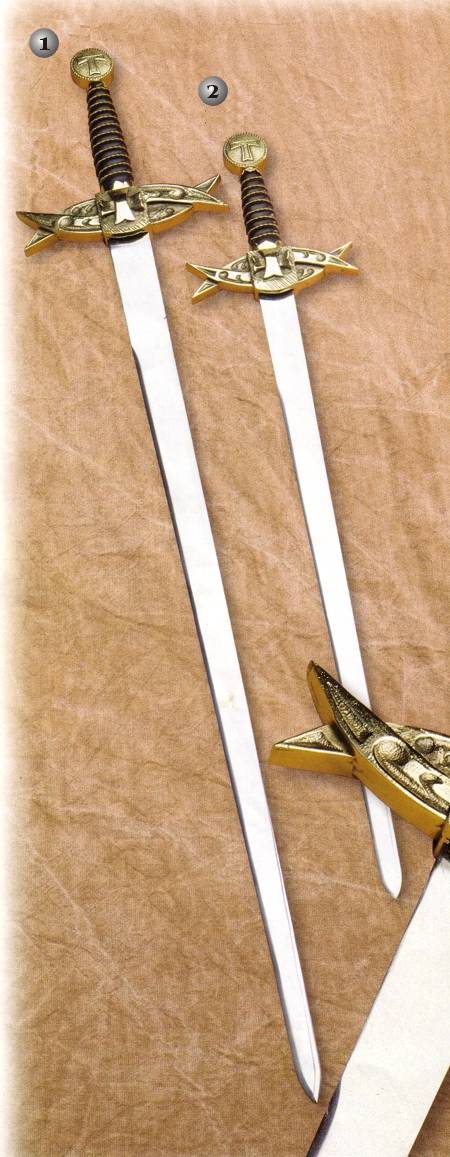 TEMPLAR SWORD DRILLED DESIGN AND TEMPLAR SWORD