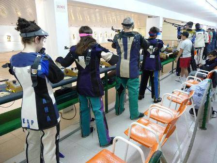Airguns are used for target shooting events