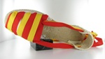 Banner espadrilles with tapes in colour yellow and red