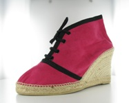 Booty suede espadrille shaped wedge
