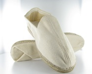 Tufted espadrilles shoe with rubber soles jute