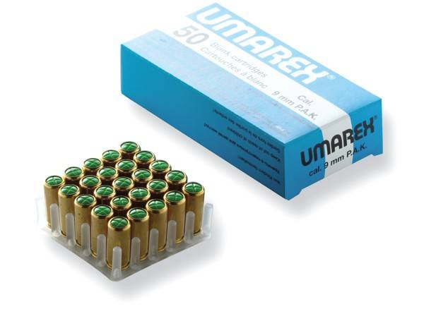 BLANK AMMUNITION 9MM MADE FOR UMAREX