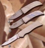 CERAMIC CLEAR, CERAMIC BLUE AND TITAN II KNIVES