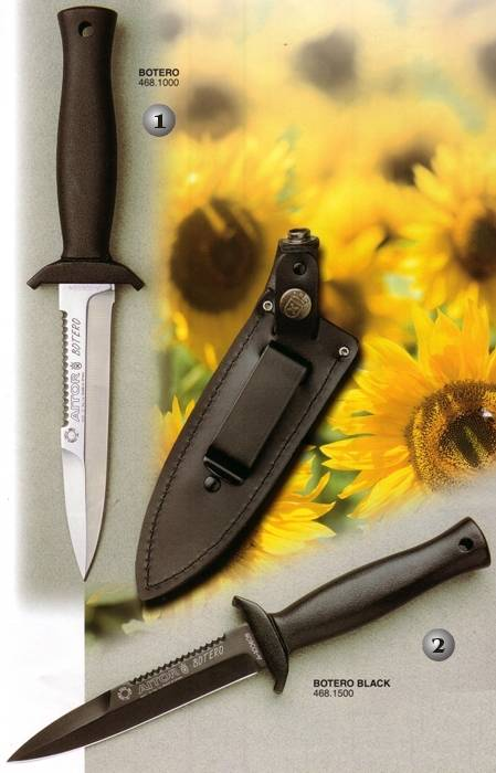 Black and White Botero Aitor knives