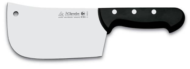 3CLAVELES KITCHEN AXE MADE OF STAINLESS STEEL WITH POLYOXIMETILENE HANDLE
