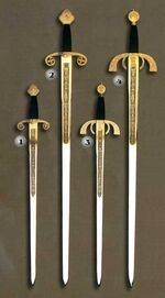 ALFONSO X SWORDS AND DUQUE DE ALBA SWORDS