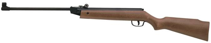 Cometa 50 air rifle with simple design and wood stock.