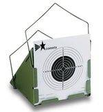 Bullet  trap Cometa with conical form, adaptable to targets of 14 x 14