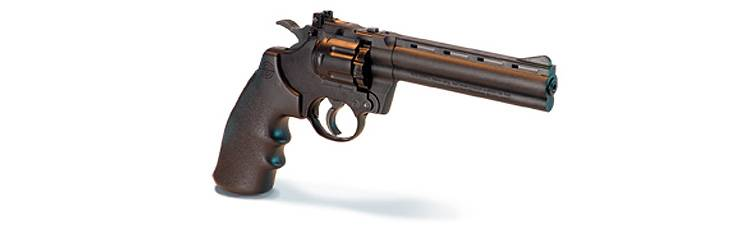 Crosman 3576 co2 revolver with 10 shot magazine.