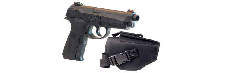 Crosman C31 Co2 air pistol with sheath.