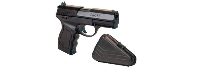 Crosman pro77 co2 airgun with transport case.