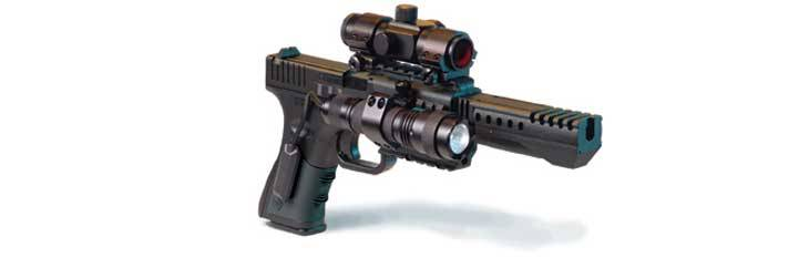 Crosman T4 OPTS airgun with tactical design.