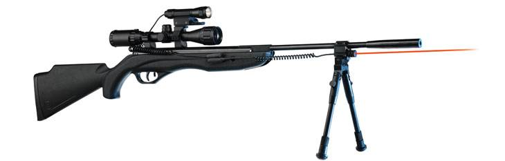 Crosman Tac 1 Extreme spring air rifle with tripod.