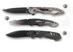 CROSSNAR BLACK MILITARY POCKET KNIVES