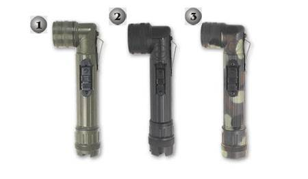 Army flashlights in 3 colours