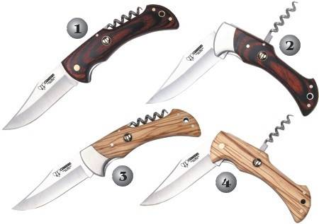 CUDEMAN HUNTING POCKETKNIVES WITH CORKSCREW