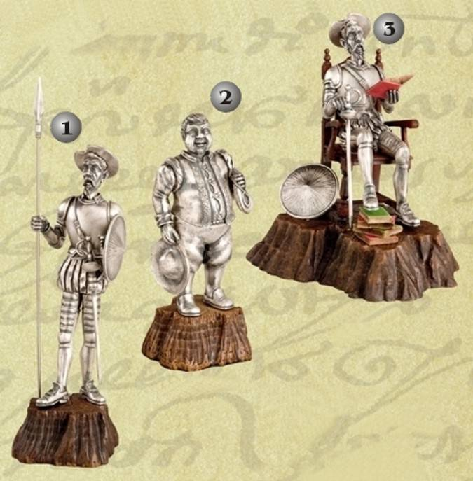 Quixote figure and Sancho Panza figure