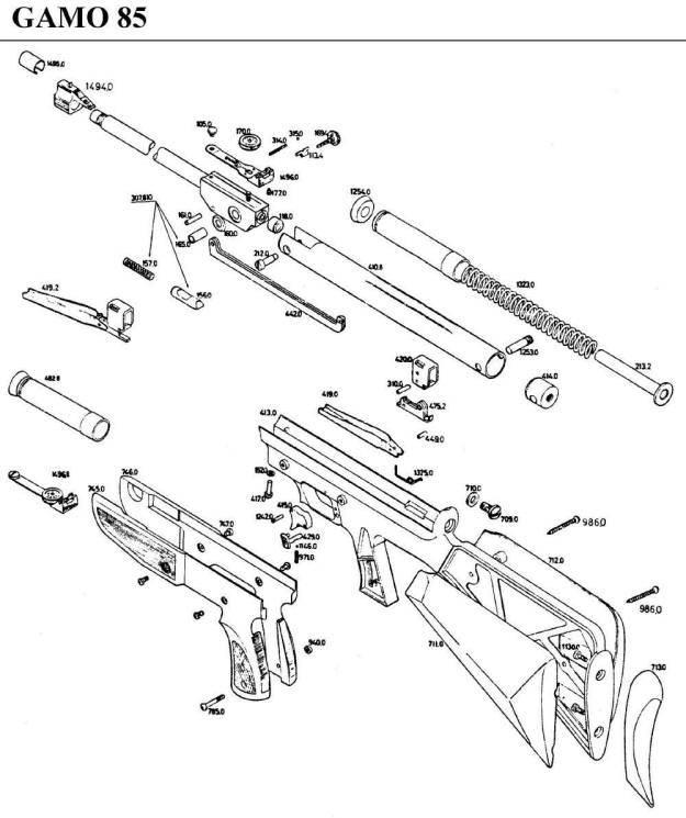gamo 85 airgun parts breakdown