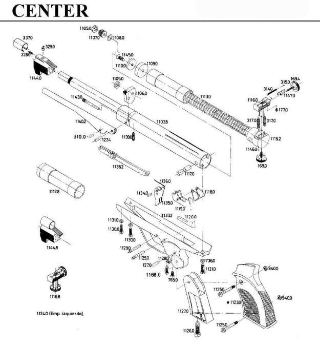 gamo center airgun parts breakdown
