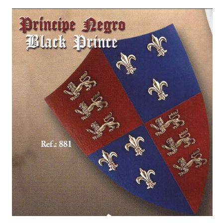 MEDIEVAL BLACK PRINCE SHIELD