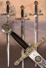 Excalibur sword.