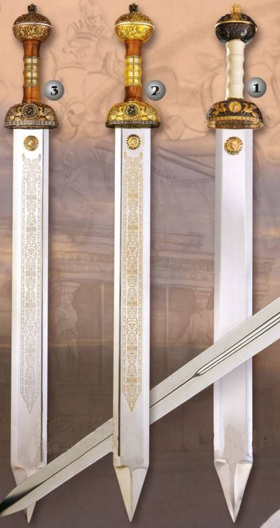 Julius Caesar swords and Gladiator sword