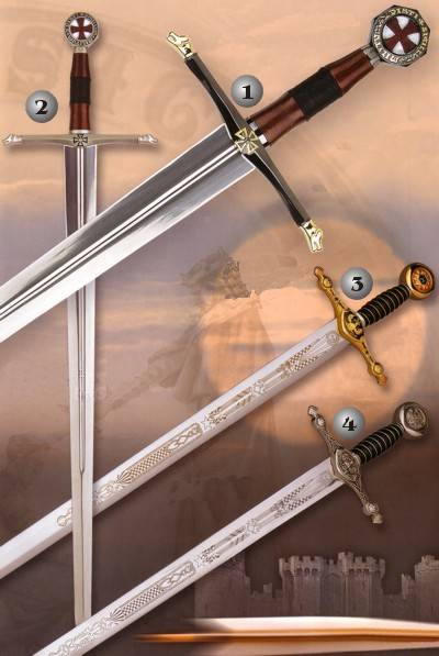 Crusaders´s swords and Masonic sword