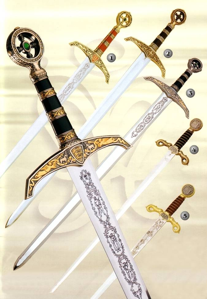 "17/"" Legend of Robin Hood Dagger Sword With Scabbard Brand New"