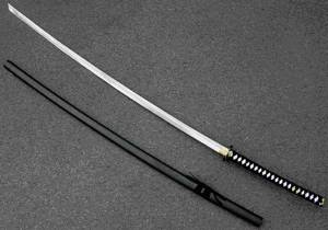 Nodachi Japanese Sword, Oyster Shell Blade