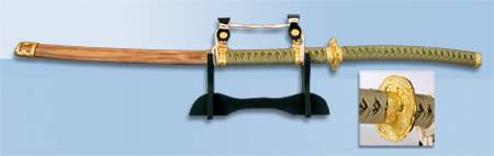Katana o Samurai Sword, Varies from 100 - 120 cm.