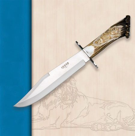 Joker Lion knife CT101. Hunting knives Joker with stag horn handle.