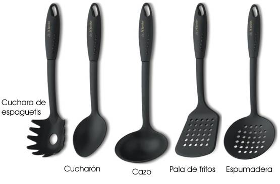 Antiadherent 3 claveles kitchen utensils