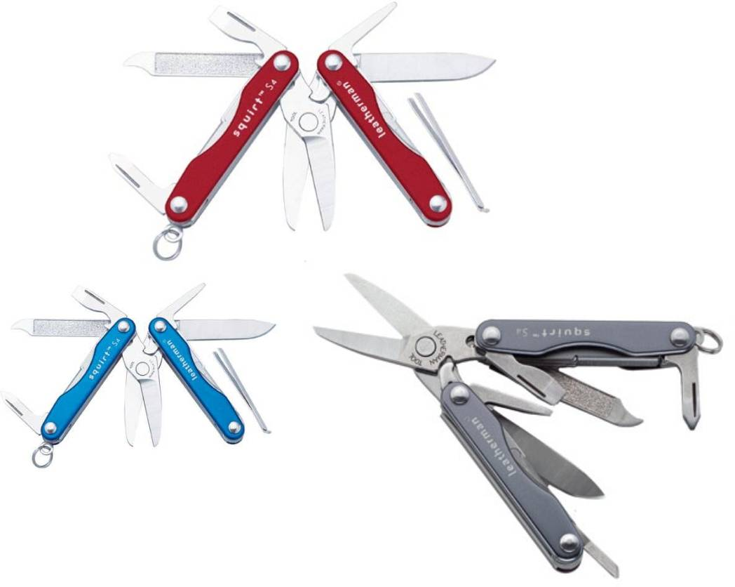 Leatherman knife squirt s4 de acero inoxidable