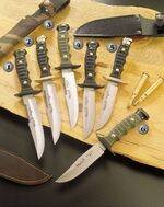 7121 KNIFE, 7120 KNIFE, 7122 KNIFE, 7101 KNIFE, 7100 KNIFE AND 7102 KNIFE