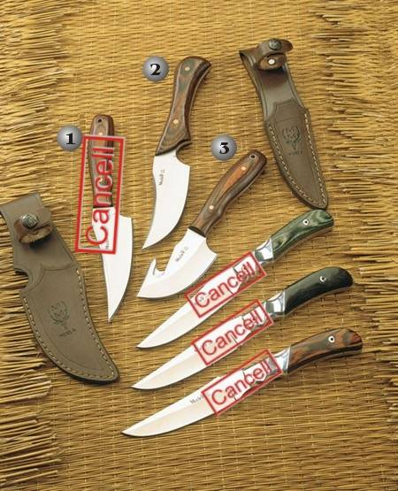 CUERVO-11 KNIFE, KAYAK-10 KNIFE AND RACOON-8 KNIFE
