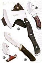 SKINNER KNIVE 11009, HUNTING AXE 11008, DESOIL KNIVE 2094 AND DESOIL KNIVE 11007