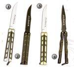 BUTTERFLY POCKET KNIFE 326-C, BUTTERFLY POCKET KNIFE 326-N, BUTTERFLY POCKET KNIFE 326-D AND BUTTERFLY POCKET KNIFE 324-N