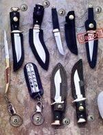 KNIVE 4506, KNIVE 5000, KNIVE 5001, KNIVE 5002, KNIVE 5006, KNIVE 5009 AND KNIVE 5010
