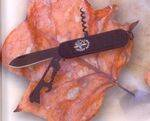 BLACK GRAN CAPITANPENKNIFE WITH CORKSCREW, MULTITOOL, ETC.