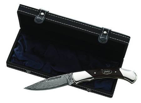 Luxe knife with damascus steel blade