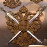 Panoplias with swords