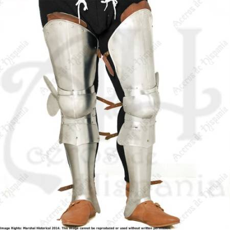 ARMOR LEGS XVth CENTURY FOR MEDIEVAL RECREATION MARSHALL HISTORICAL