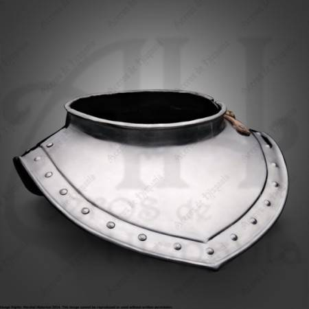 GORGET XVIIth FOR MEDIEVAL RECREATION MARSHALL HISTORICAL
