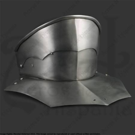 ARTICULATED GORGET XVth FOR MEDIEVAL RECREATION MARSHALL HISTORICAL