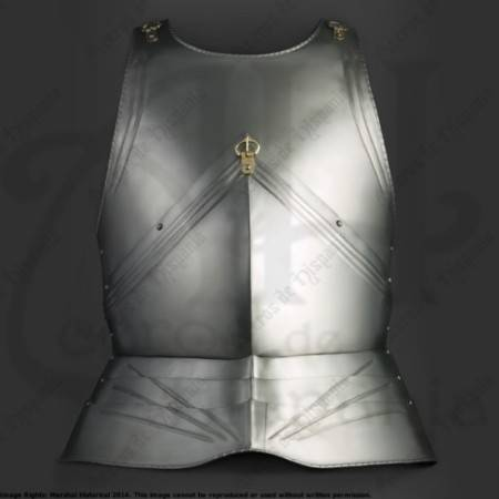 EUROPEAN CHESTPLATE II OF XVth CENTURY FOR MEDIEVAL HISTORICAL RECREATION
